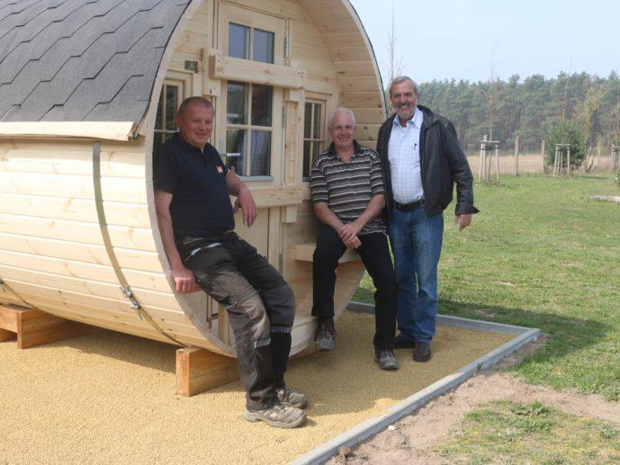 Liepnitzsee: Unsere Campingfässer sind da!
